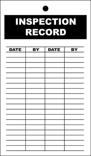 Polyester Inspection Record Tags