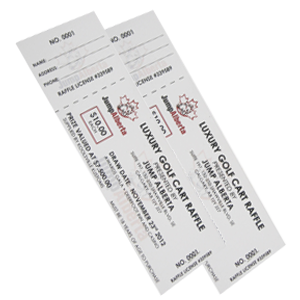 Raffle Tickets – Full Colour Laser
