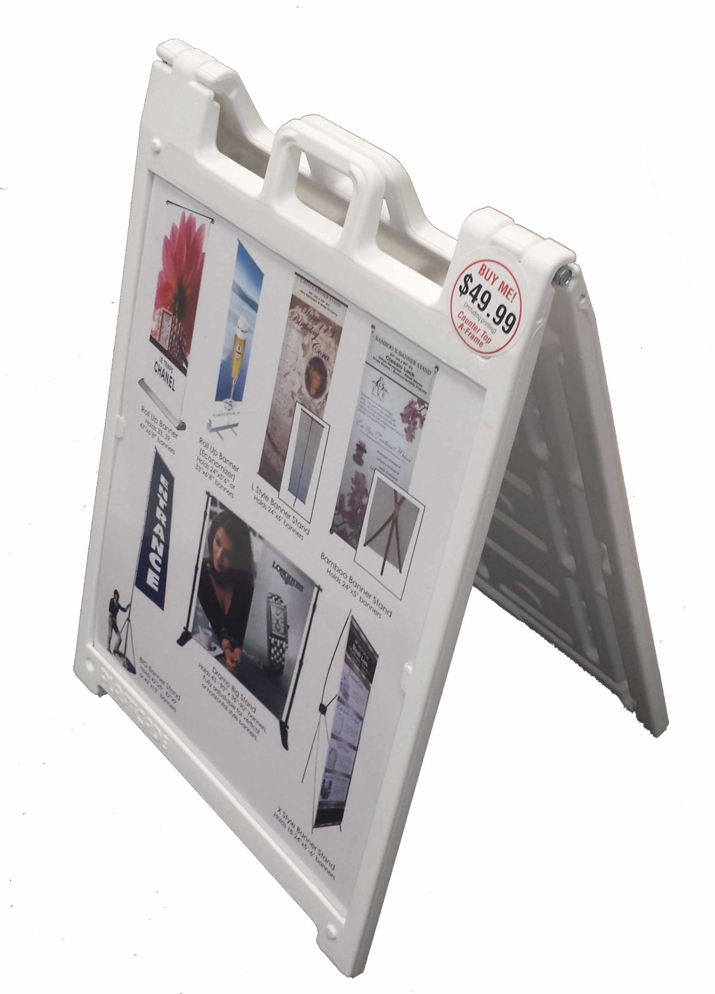 Plastic Slide in A-Frame Holder